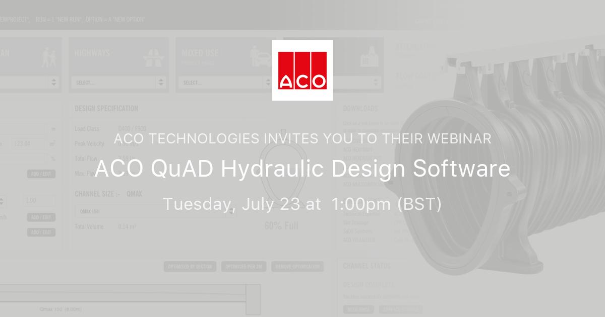 ACO QuAD Hydraulic Design Software | Colab PD